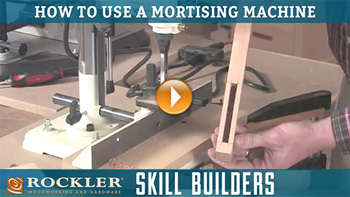 Cutting Mortises with a Mortising Machine
