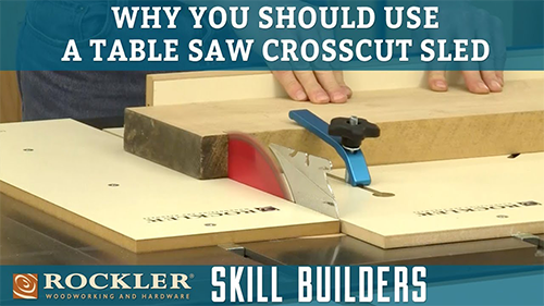 Four Reasons to Use a Table Saw Crosscut Sled