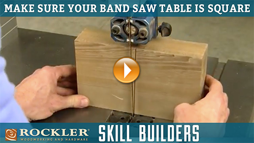 Simple Tip for Checking that a Band Saw Blade is Square to the Table