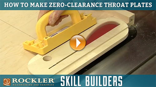 How to Make Zero Clearance Throat Plate Inserts for Table Saws