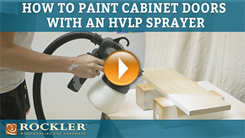 How to Paint Cabinet Doors Using an HVLP Sprayer