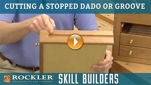 How to Make a Stopped Dado or Groove Cut with Router Table