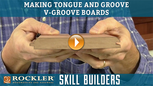 How to Make Tongue and Groove V-Groove Boards