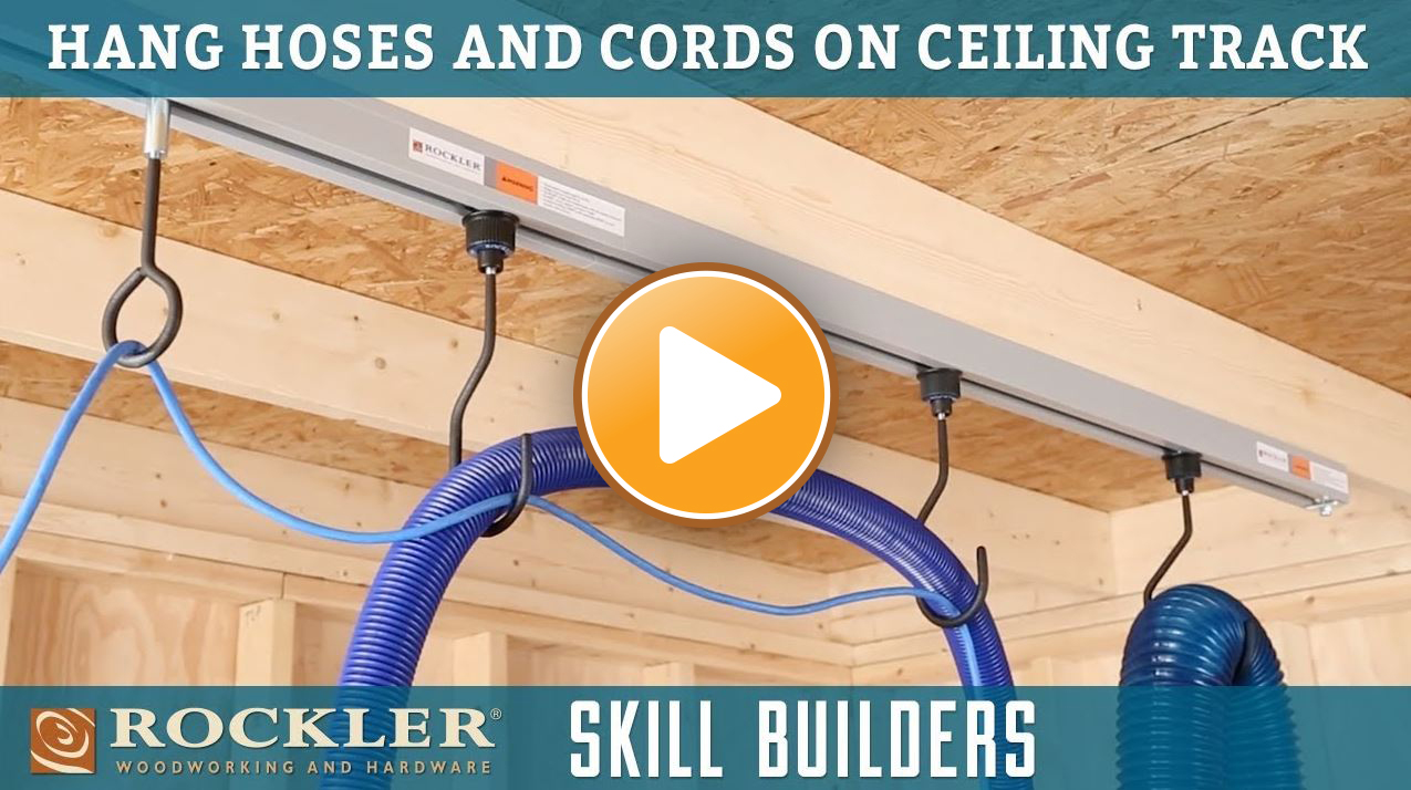 Hang Hoses and Cords on Ceiling Track
