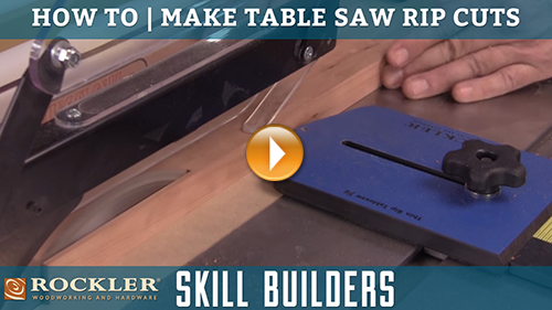 How to Make Rip Cuts with a Table Saw