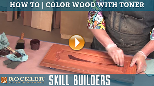 How to Color Wood with Toner and Glaze Finishes