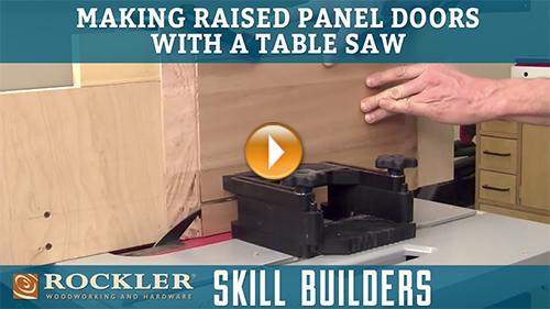 Making Raised Panel Doors with Table Saw