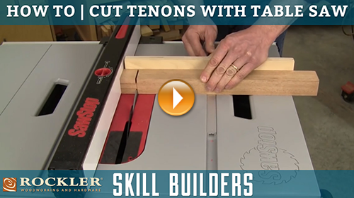How to Cut Tenons with a Table Saw