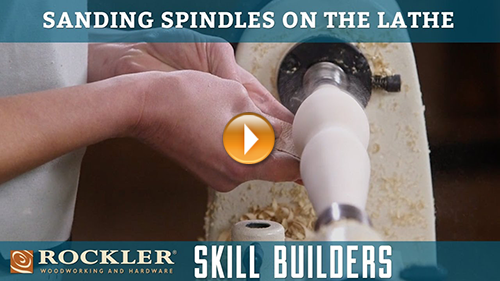 Sanding Spindle Turnings on a Lathe