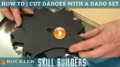 How to Cut Dadoes with a Table Saw and a Dado Set