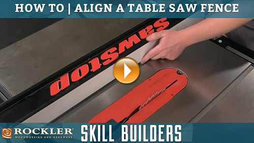 How to Align Your Table Saw Fence
