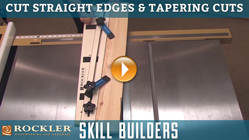 Cutting Straight Edges and Tapering Cuts with a Table Saw