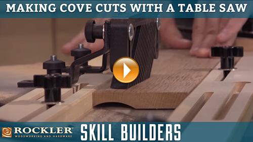 Making Cove Cuts with a Table Saw