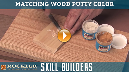 Matching Wood Putty Color