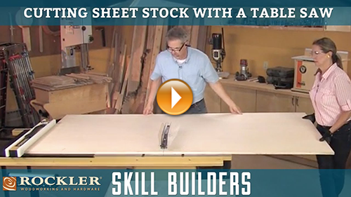 Cutting Large Sheet Stock on a Table Saw
