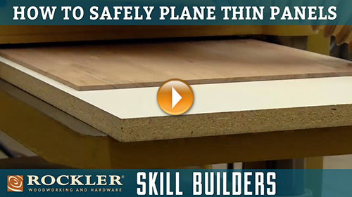 How to Safely Plane Thin Panels
